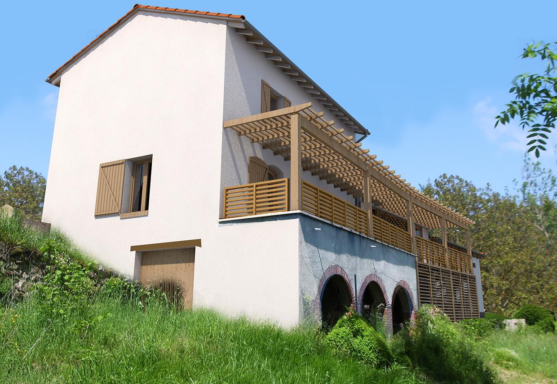 D marrage du chantier extension d une maison en ossature for Realiser une extension ossature bois