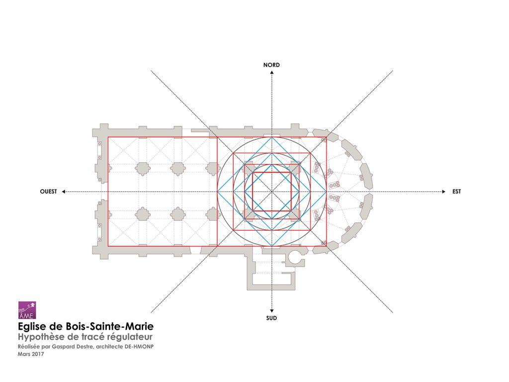 Géométrie sacrée - tracé régulateur - duplication des  carrés