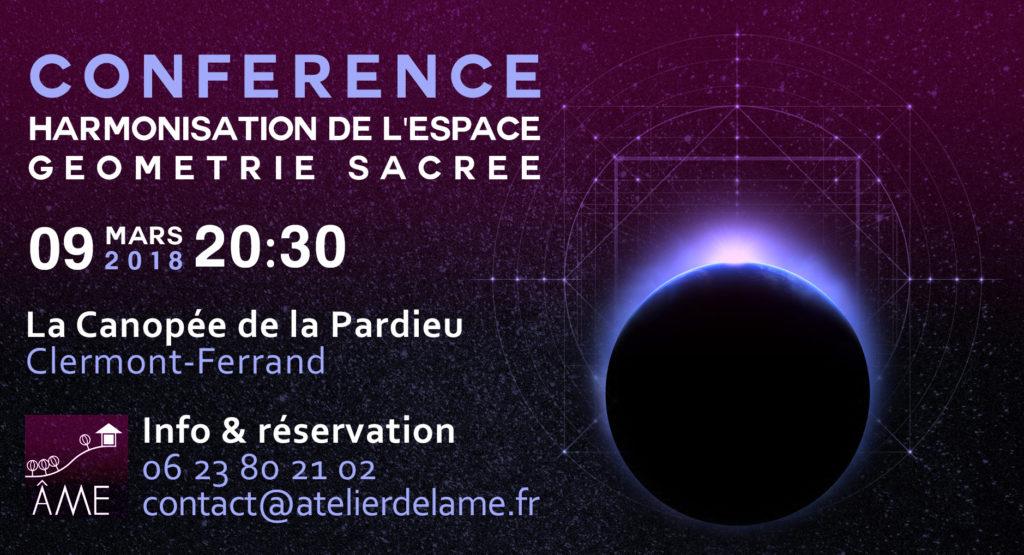 Conférence harmonisation de l'espace et géométrie sacrée