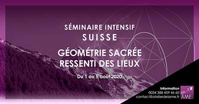 Séminaire de 5 jours en 2020 de géométrie sacrée en Suisse