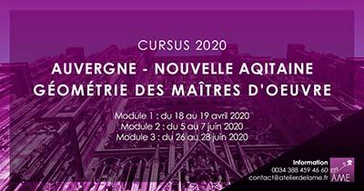 Formations 2020 de géométrie sacrée en Auvergne et Nouvelle Aquitaine