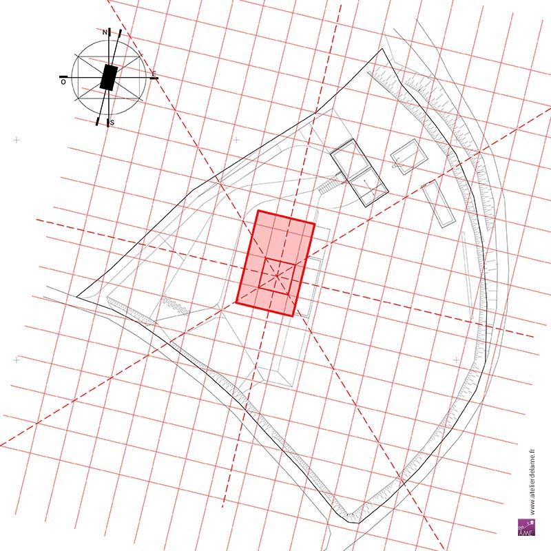 Schéma du tracé régulateur d'implantation de la maison